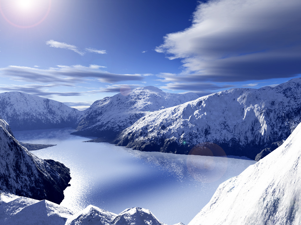 Snowy Background With Mountain: Author: Mmarquardt